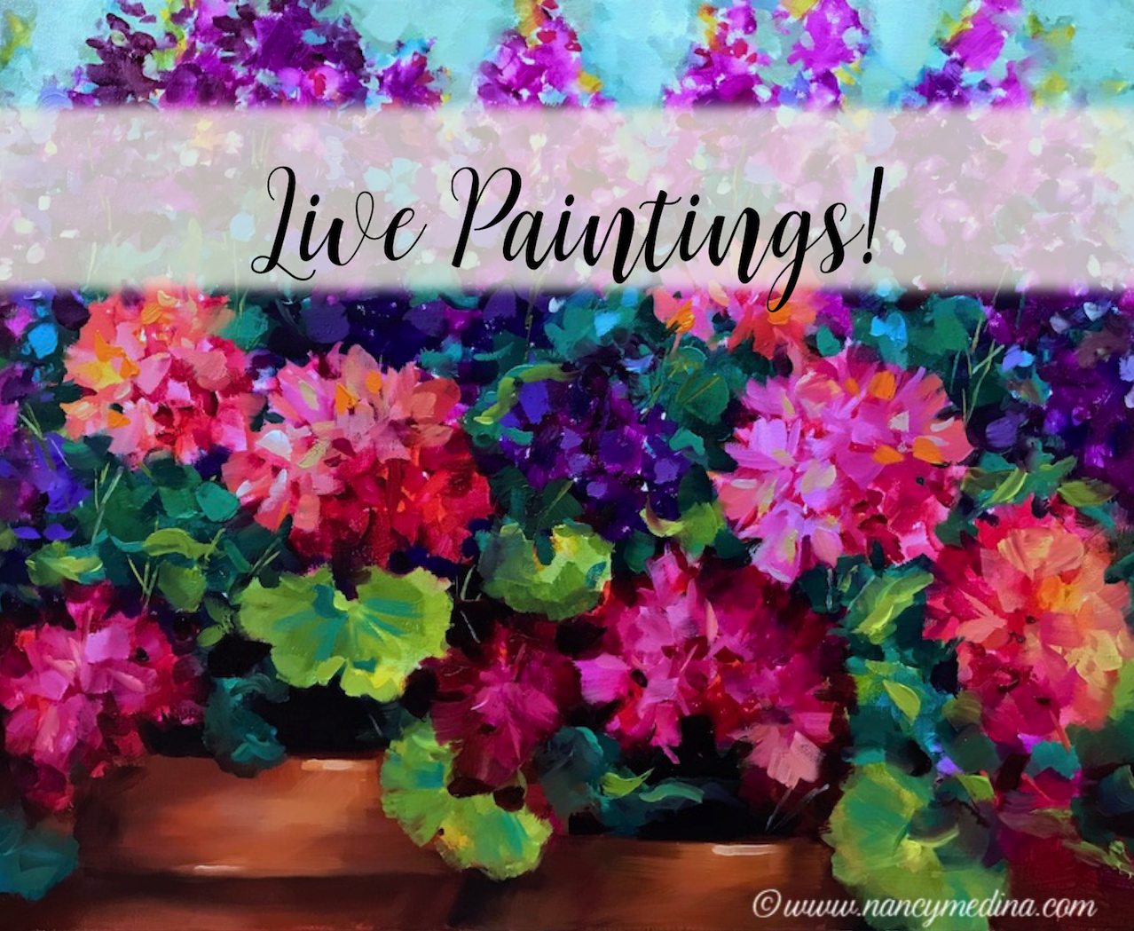 Live painting banner