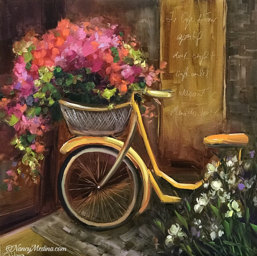 French Twist Yellow Bicycle