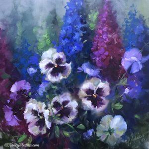 Wild Purple Pansy Garden