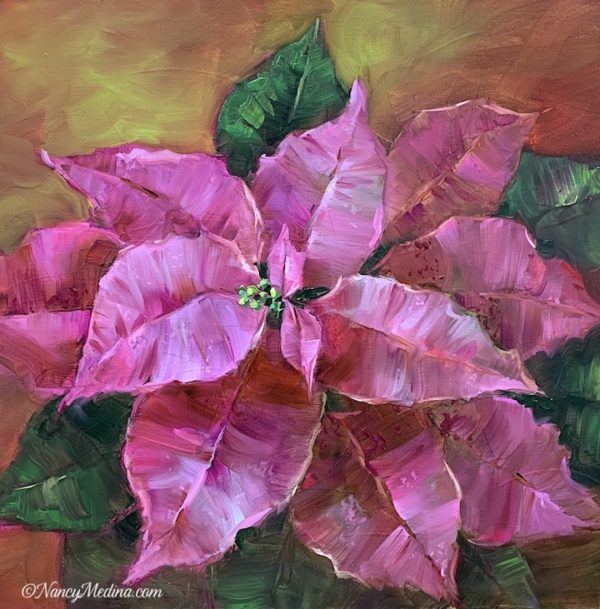 Pink Dust Poinsettias