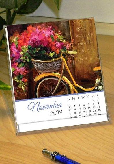 desk calendar tall 2019