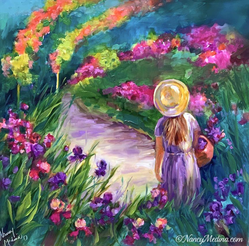 Monet flower girl