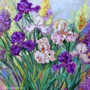 Early Spring Iris Garden