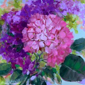 Heartsong pink hydrangeas