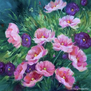 Pink Dancers Daisies and Ranunculus