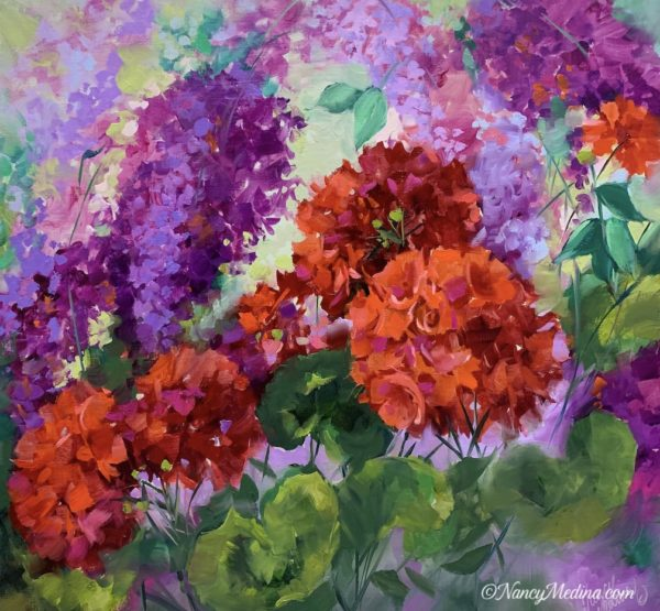 Shaken and Stirred Lilacs and Geraniums