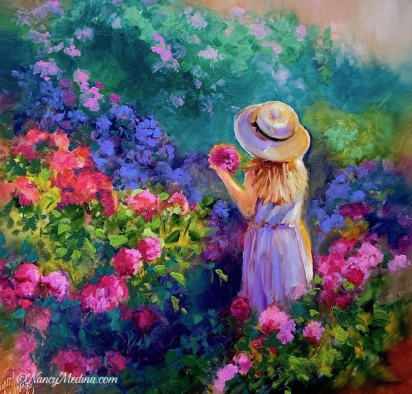 Hydrangea Hunter Girl in Garden