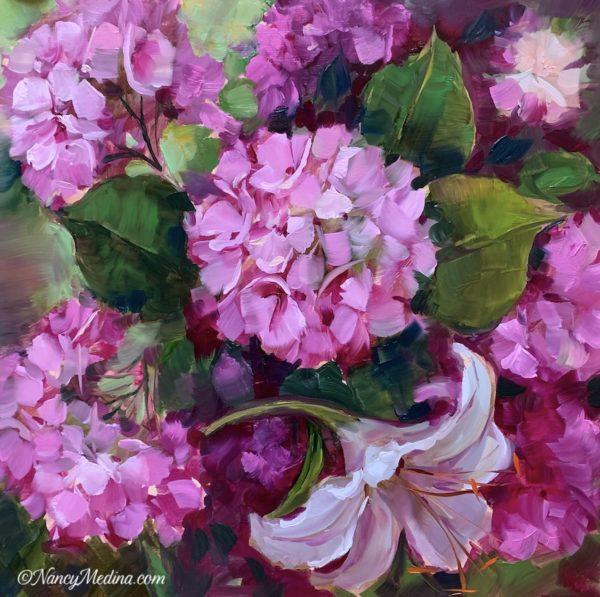 Wildfire Pink Hydrangeas