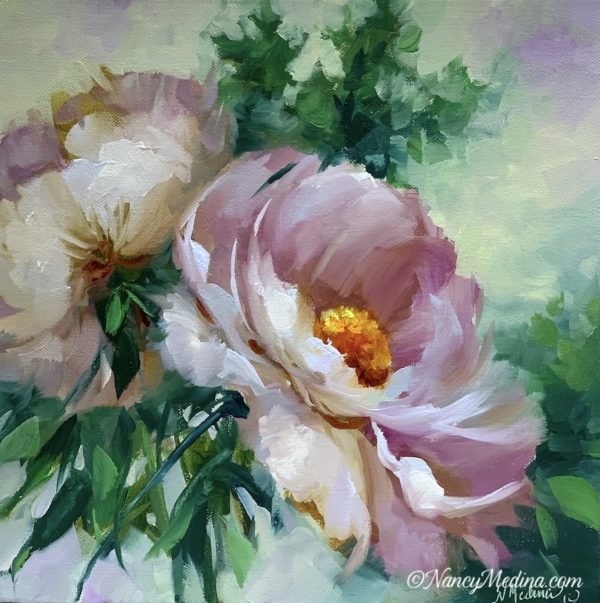 Brighter Day Peonies 12X12