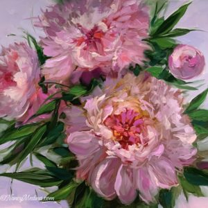 Peach Spiral Peonies