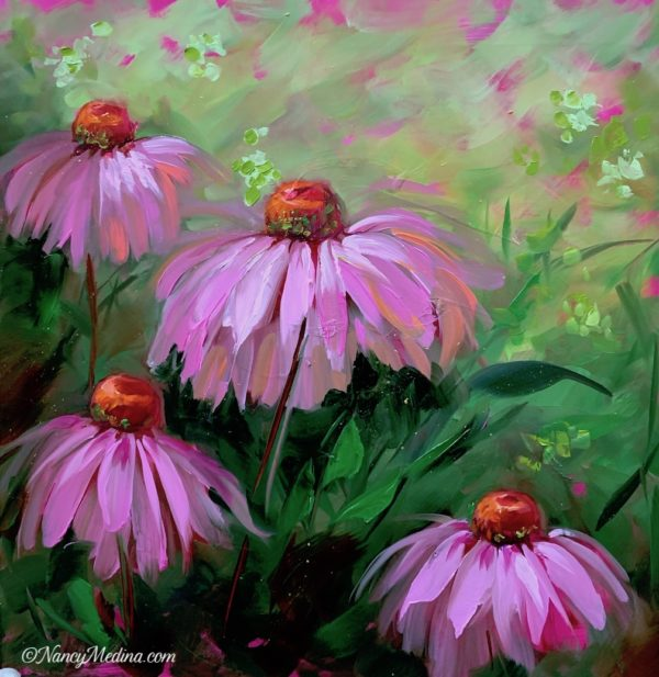 Speckled Pink Coneflowers