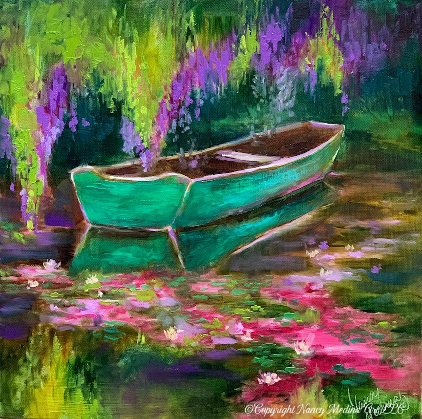 PMG Green boat painting