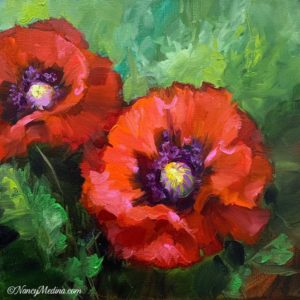 Summer Light Red Poppies