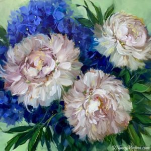 Three Dancers White Peonies