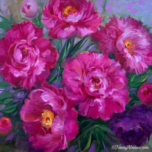 Wild Wind Pink Peonies