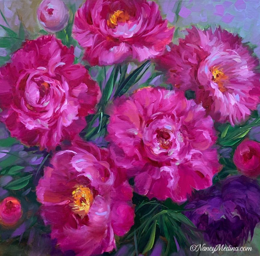 Wild Wind Pink Peonies