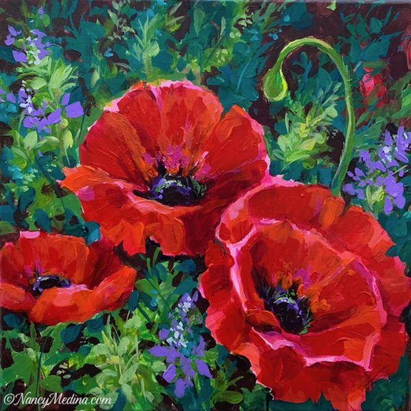 Love Spills Over Poppies