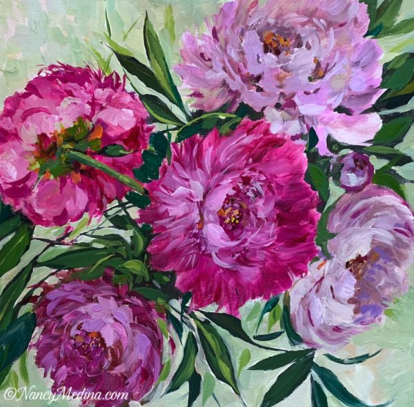 Twilight Pink Peonies
