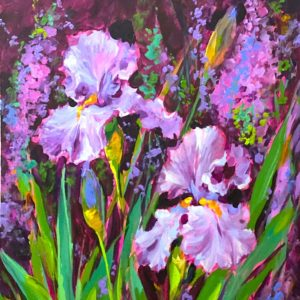 Light From Above Iris Garden acrylics