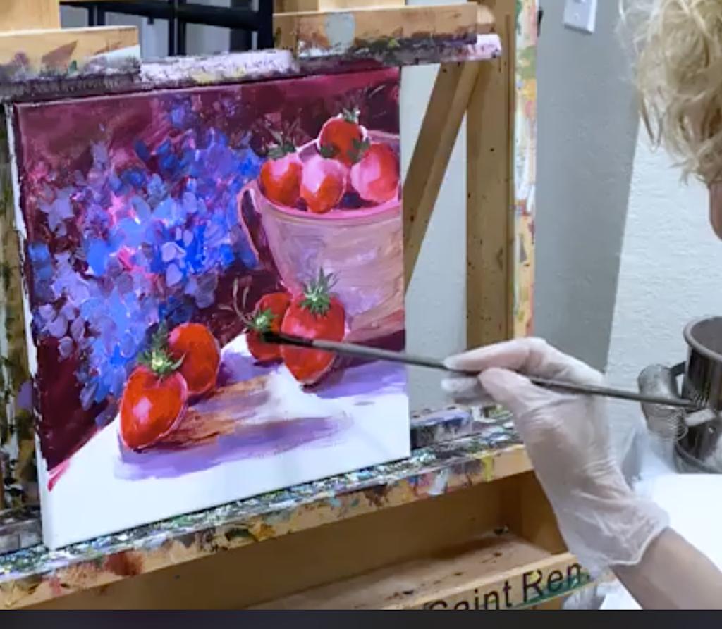 Blog berry demo acrylics