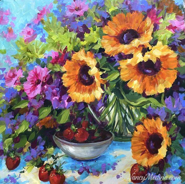 Bowl of Sunshine Sunflowers