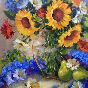 Cottage Breakfast Garden Sunflowers