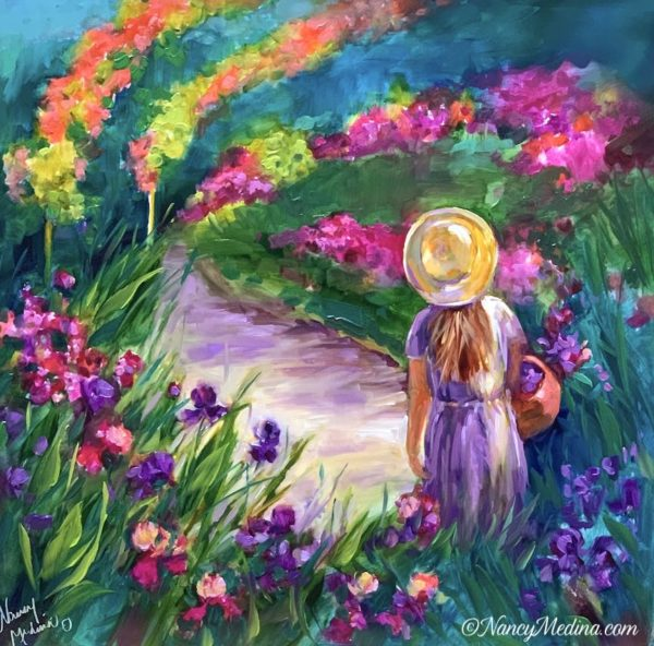 Monet Flower Girl