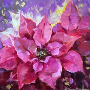 New Year's Pink Poinsettias