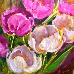 Pink tulip panoply