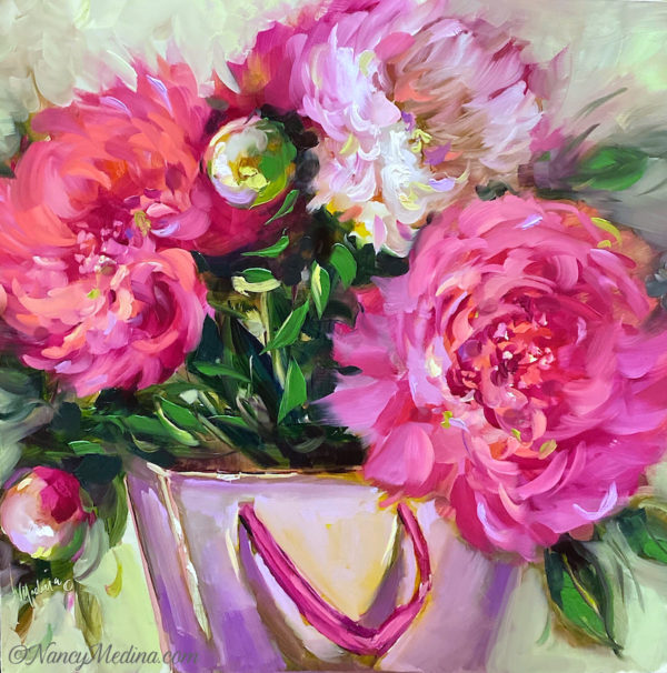 Shopping Parcel Peonies