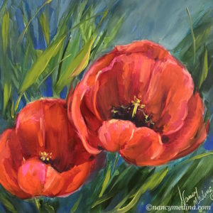 Two Sisters Red Tulips