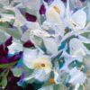 Purple sparkler hydrangeas close up