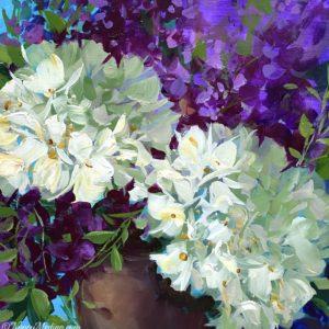 Purple Sparkler Hydrangeas