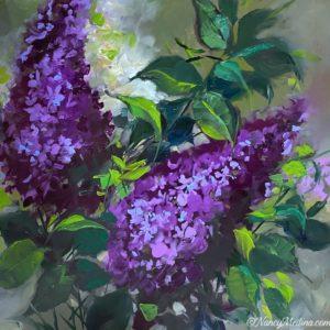 Lilac Ladies 16X16