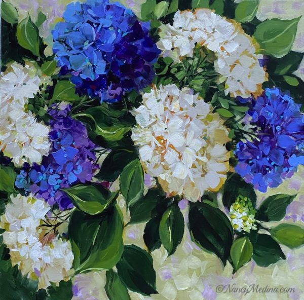 Dreams of Flying Blue Hydrangeas