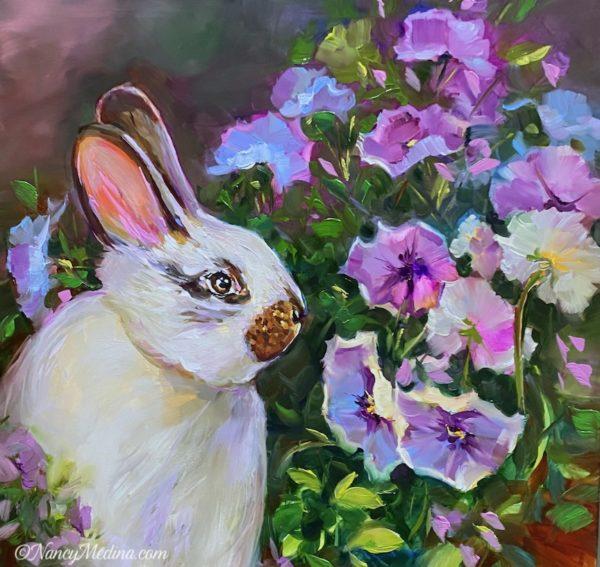 Pansy Feast - Garden Bunny