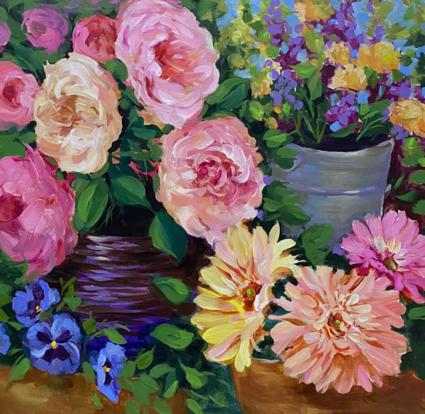 Peony and Pansy Container Garden BBA