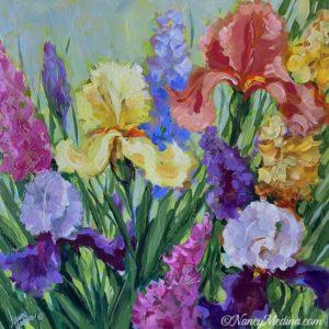 spring dance iris garden