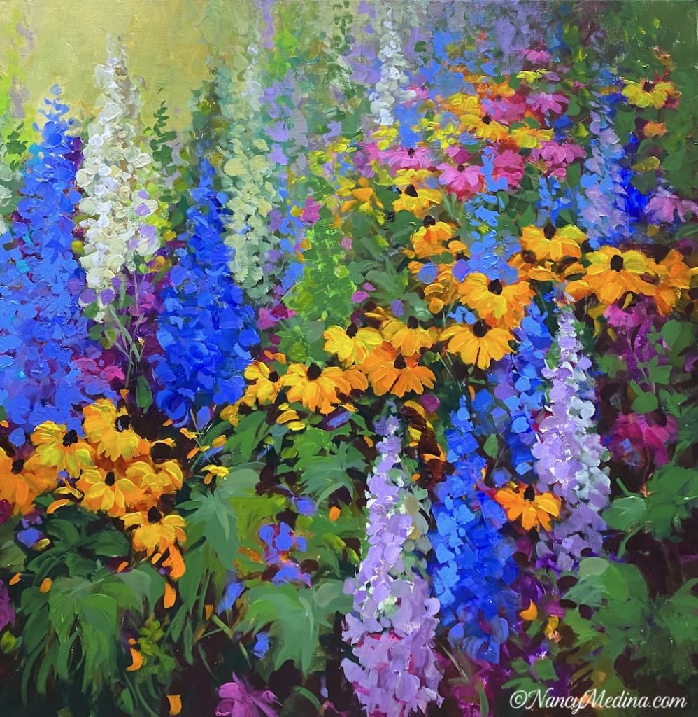 Tumble Down Daisies 24X24