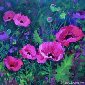 Butterfly Garden Pink Poppies