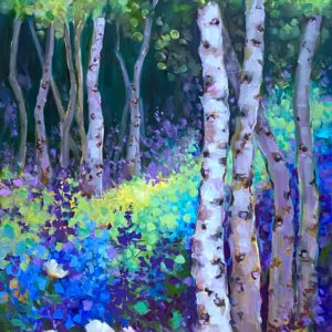 Blue Forest Aspens 48X12