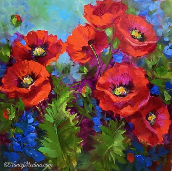 Home Grown Poppy Garden 16X16
