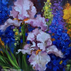 Garden Angel Irises 16X16