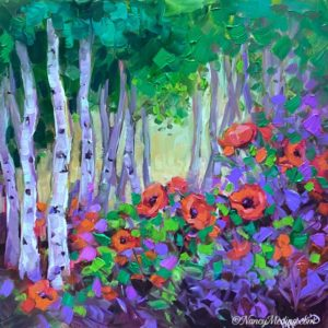 Lost in the Forest Poppies 12X12