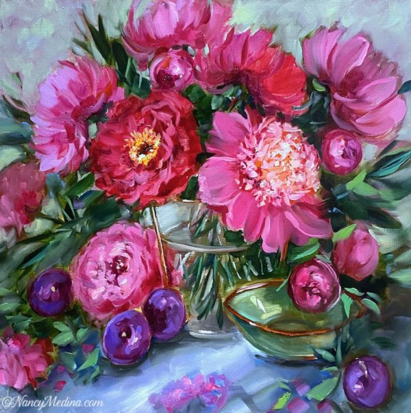 Pink Dream Peonies 20X20 TJB