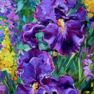 Sun Seeker Purple Iris Garden 24X12