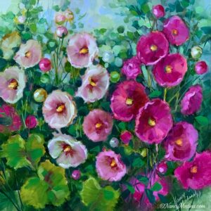 Jubilee Pink Hollyhocks