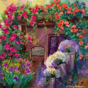 Cafe Monet flower garden 16X16