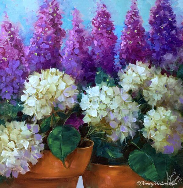 Zen Blossom Hydrangeas 20X20
