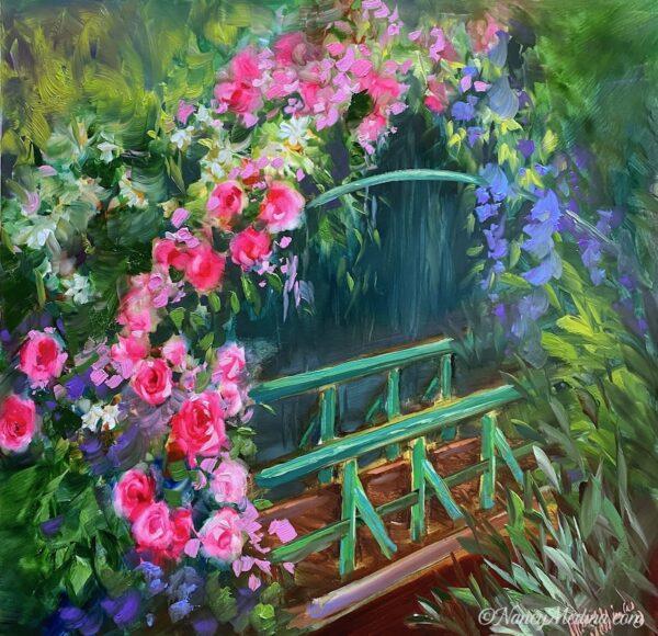 Rose Bridge Monet's Garden 16X16
